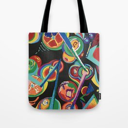 Colorful Abstract Fruit Tote Bag
