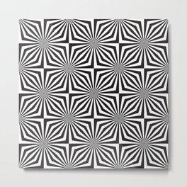 op art - star squares Metal Print