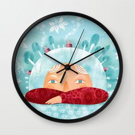 Winter mood Wall Clock
