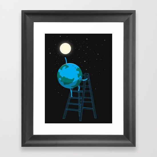 Reach the moon Framed Art Print