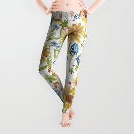 Wildflower Watercolor Leggings