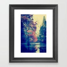autumn by the sea Framed Art Print