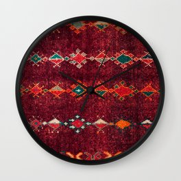 -A8- Colored Traditional Moroccan Carpet Artwork. Wall Clock