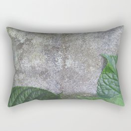 Urban Plant hydrangea leaves on concrete wall Rectangular Pillow