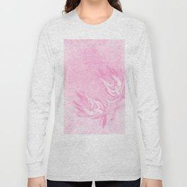 Wattle and kaleidoscope in pink Long Sleeve T-shirt