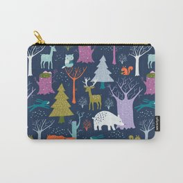winter woodland animals Carry-All Pouch