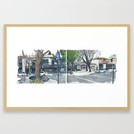 E Street Davis panorama Framed Art Print