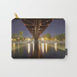 Peace Bridge at Night Calgary 3 Carry-All Pouch