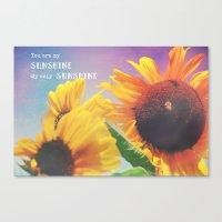 sunshine Canvas Prints featuring Sunshine by Olivia Joy StClaire
