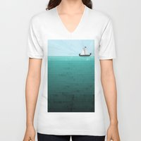 sail V-neck T-shirts featuring Sail by Kakel