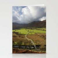 cassia beck Stationery Cards featuring Clouds over Beckstones Farm and Goldrill Beck. Patterdale, Lake District, UK by liamgrantfoto