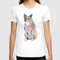 striped T-shirts featuring Striped Dog by Yuliya