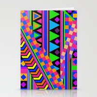 neon Stationery Cards featuring NEON by Bianca Green