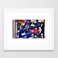 stickers Framed Art Prints featuring Stickers by very giorgious