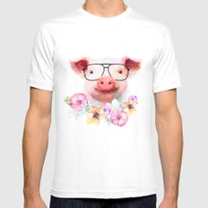 Pretty Pig Mens Fitted Tee White MEDIUM