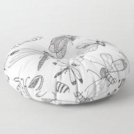 DragonButterfly Floor Pillow