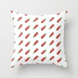 Sriracha Pattern Throw Pillow