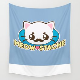 Meow-Stache Wall Tapestry