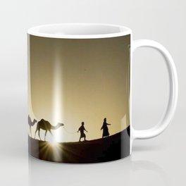 Sahara Desert Sunrise Walk of Camels Coffee Mug