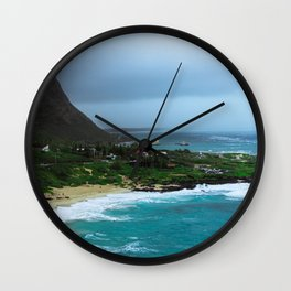 A Postcard Home from Paradise Wall Clock