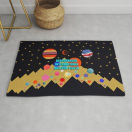 Albuquerque International Balloon Fiesta print design Rug