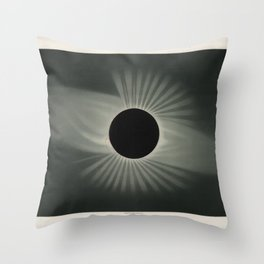 The Trouvelot Astronomical Drawings (1881) - A Total Eclipse of the Sun, 1878 Throw Pillow