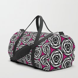 Black and White Rose Duffle Bag