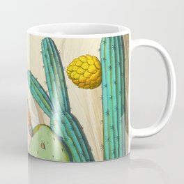 Monograph of the Picides Alfred Malherbe 1861 Vintage Bird Cactus Flower Illustration Coffee Mug