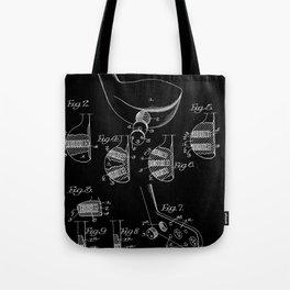 Golf Club Blueprint Patent Tote Bag