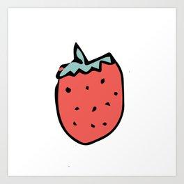 Strawberry Art Print