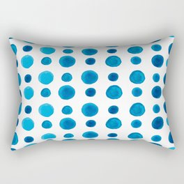 Watercolor blue dots Rectangular Pillow