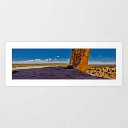 A Nice Day At The Arch Art Print