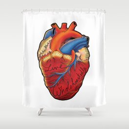 Live Wholeheartedly Shower Curtain