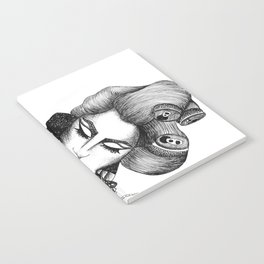 GIRL WITH A TELEPHONE Notebook