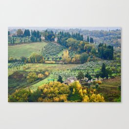 Wine Country Tuscany Italy Canvas Print