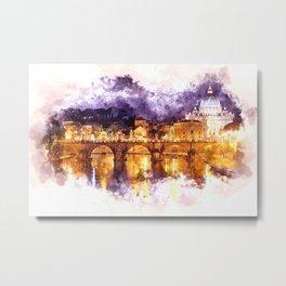 Holy Angel Bridge and St. Peter's Basilica Metal Print