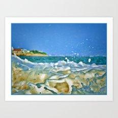 Close Wave!  Art Print