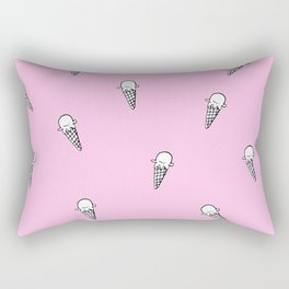Ice cream Illustration pattern Pink Rectangular Pillow