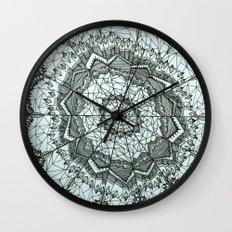 Dream Catcher by Mieke Kristine Wall Clock