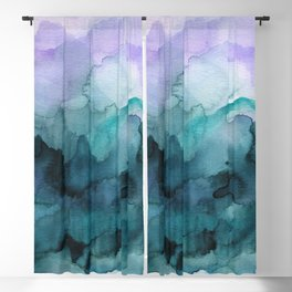 Dream away abstract watercolor Blackout Curtain