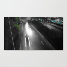 urban Paris black and white with color Canvas Print