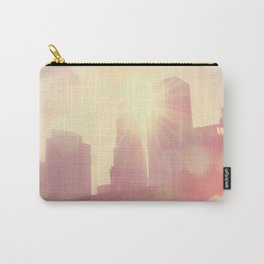downtown Los Angeles skyline photograph. City of Lights Carry-All Pouch