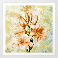 vintage floral Art Prints featuring Vintage Floral by Colorful Art