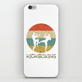 Kickboxing Vintage Gift for Martial Arts Fighters And Kickboxer iPhone Skin