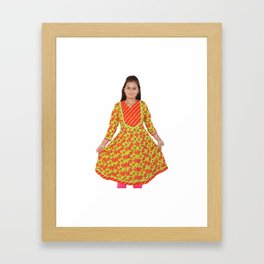 Multi Color Kurtis for Women's Framed Art Print