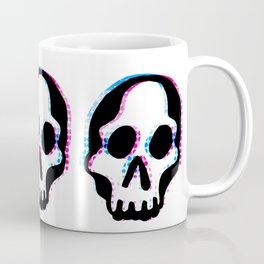 Glitch Skull Coffee Mug