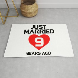 JUST MARRIED 9 YEARS AGO Rug