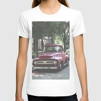 truck T-shirts featuring Red Truck by Derrick Koch