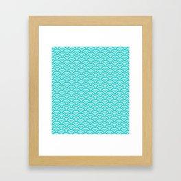 Japanese pattern turquoise Framed Art Print