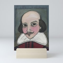 Much Ado About Shakespeare, Illustrated Writers Portrait Mini Art Print